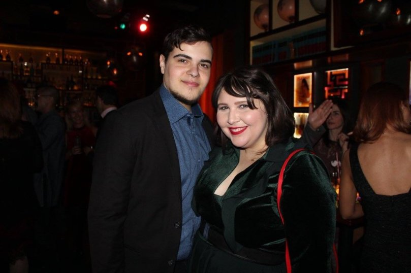 With her boyfriend at the 2016 Updater holiday party!