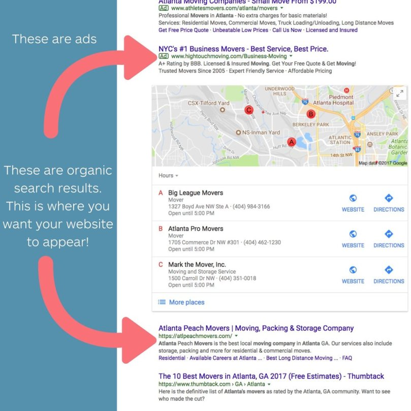 seo search - seo for moving companies