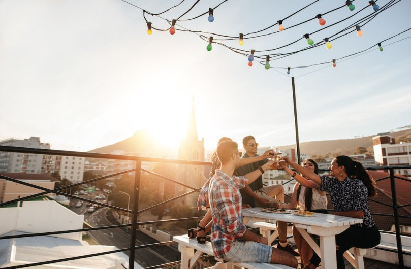 friends cheers rooftop_maximizing roi service based amenities